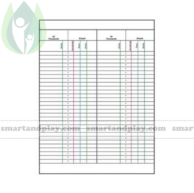 Paper For Small Bead Frame Montessori Teaching Aids Price 449