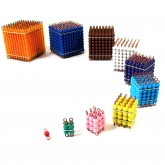 Set of Coloured Bead Cubes