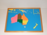 Puzzle Map with Frame: Australia