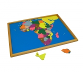Puzzle Map with Frame: Africa