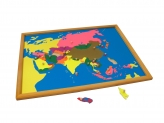 Puzzle Map with Frame: Asia