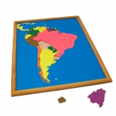 Puzzle Map with Frame: South America