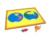 Puzzle Map with Frame: World Parts